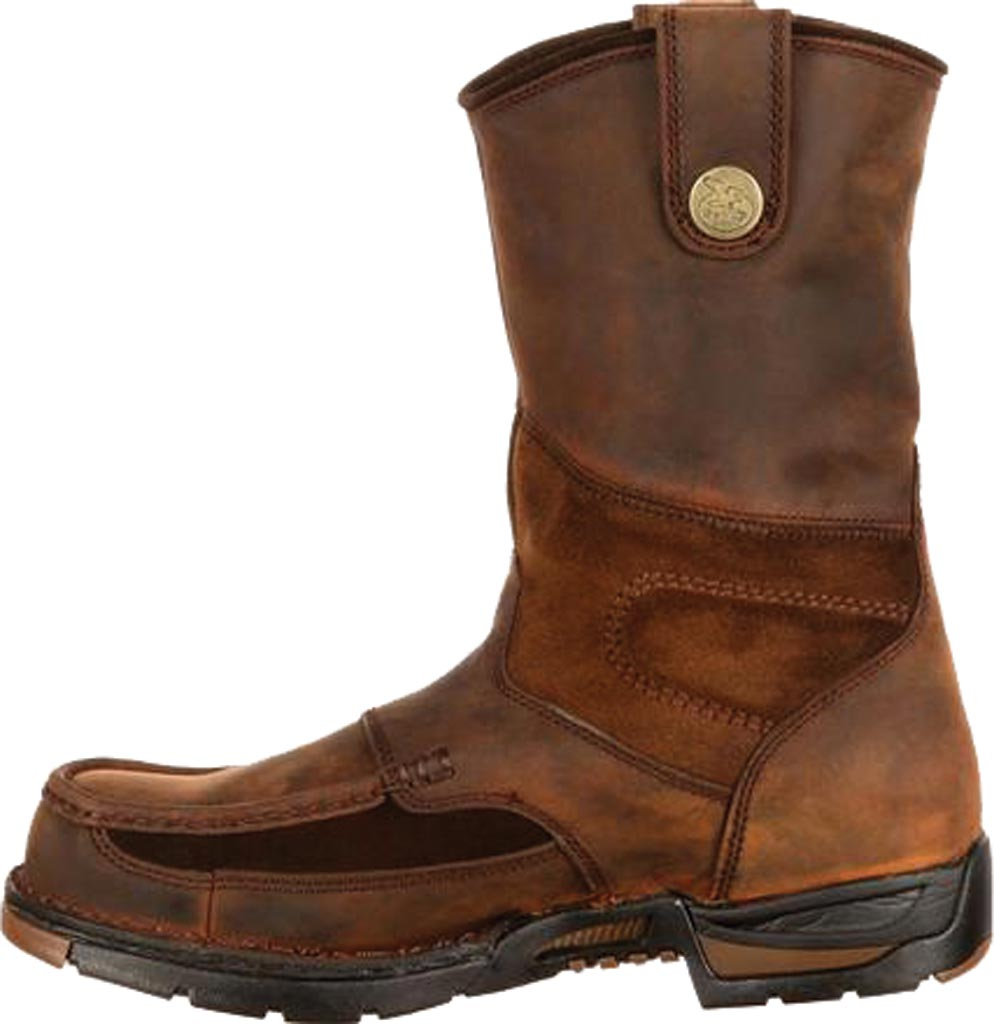 Men's Georgia Boot G4603 Athens Pull-On Steel Toe, Brown1, large, image 3