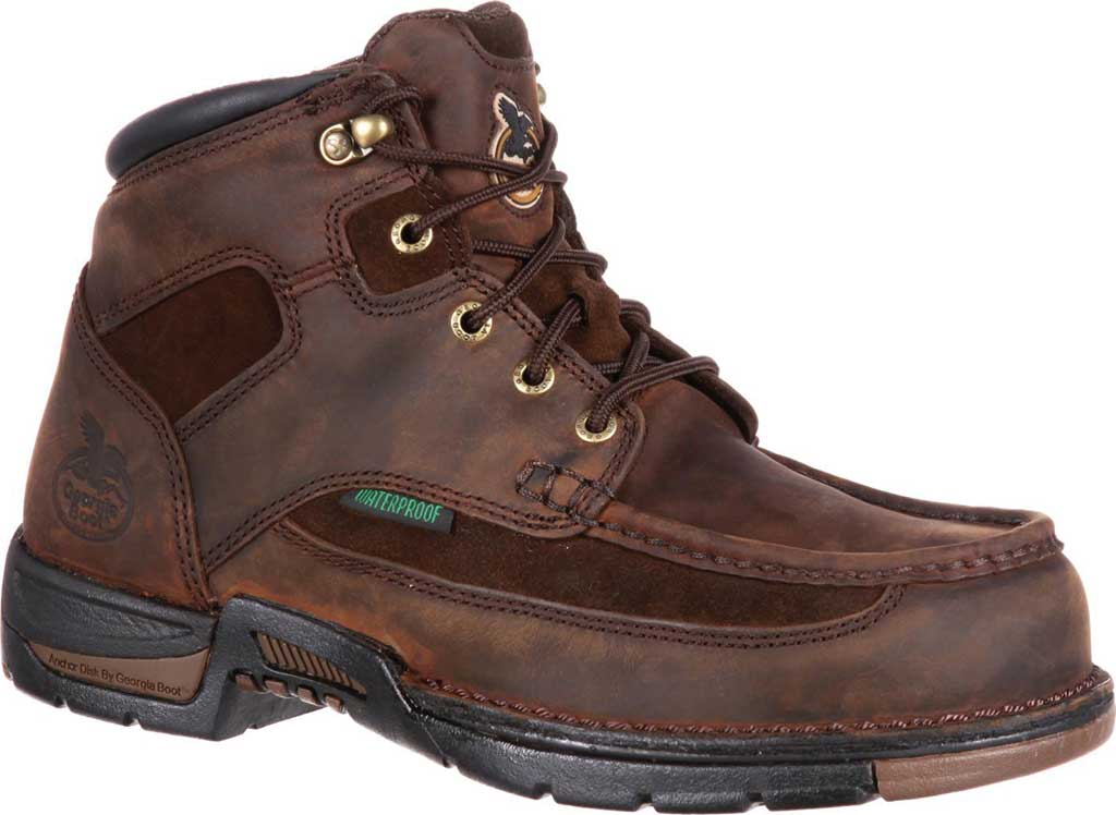"Men's Georgia Boot G9453 Athens 8"" Moc-Toe, Brown1, large, image 1"