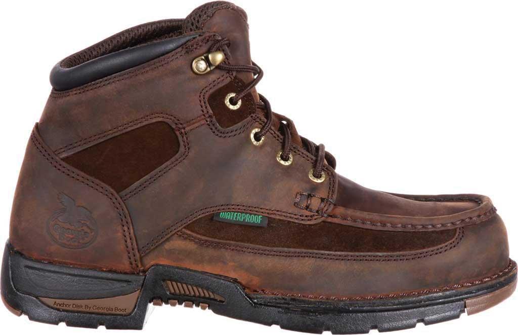 "Men's Georgia Boot G9453 Athens 8"" Moc-Toe, Brown1, large, image 2"