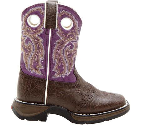 "Girls' Durango Boot BT286 8"" Li'l Flirt, Dark Brown/Purple, large, image 2"