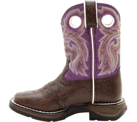 "Girls' Durango Boot BT286 8"" Li'l Flirt, Dark Brown/Purple, large, image 3"