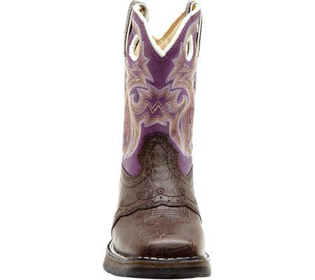 "Girls' Durango Boot BT286 8"" Li'l Flirt, Dark Brown/Purple, large, image 4"