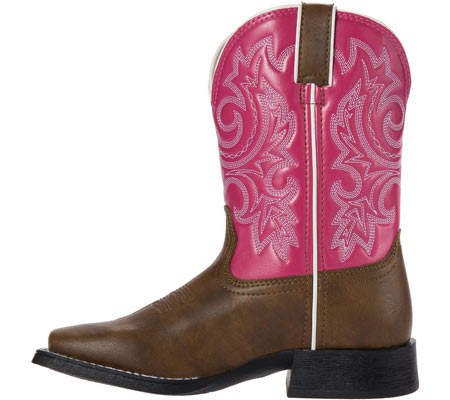 "Girls' Durango Boot BT217 8"" Pull-On, Brown/Hot Pink, large, image 3"