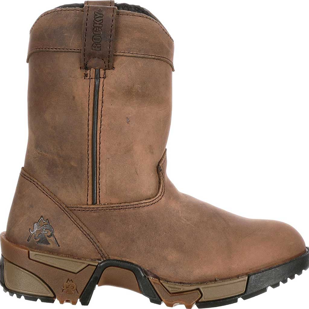 Boys' Rocky Aztec Pull-On Boot 3638, Brown, large, image 2