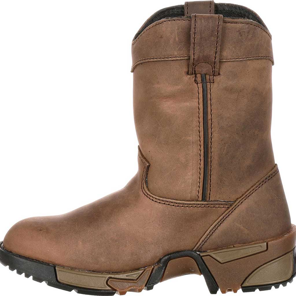 Boys' Rocky Aztec Pull-On Boot 3638, Brown, large, image 3