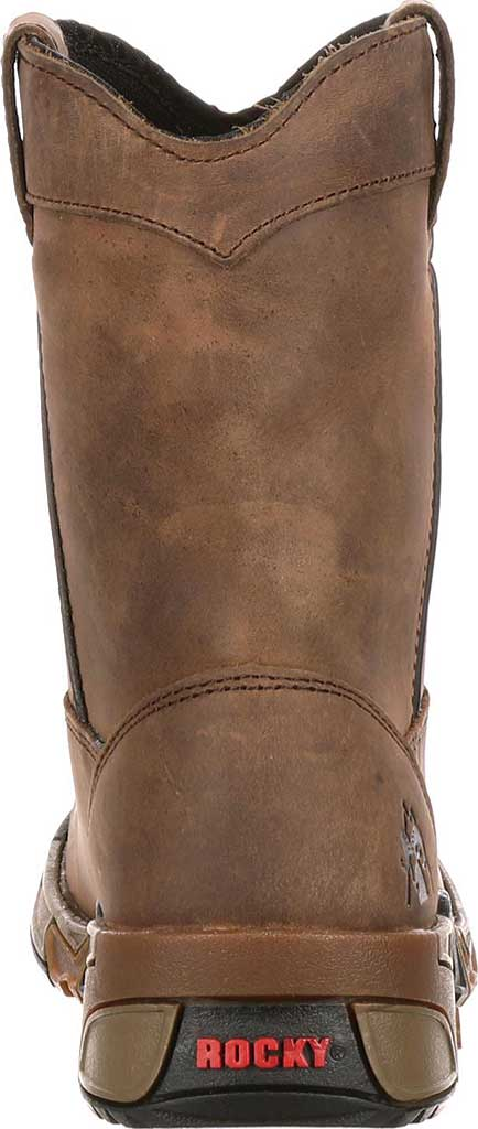 Boys' Rocky Aztec Pull-On Boot 3638, Brown, large, image 4