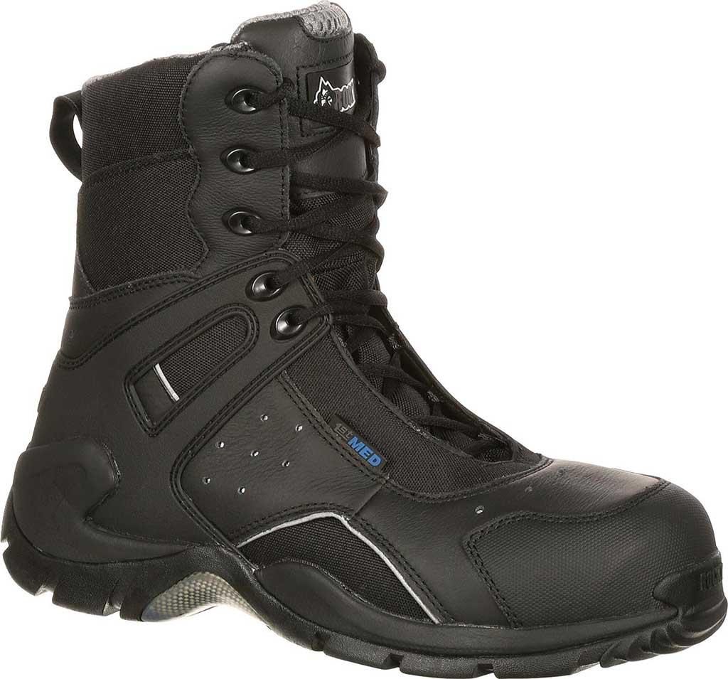 """Rocky 8"""" 1st Med Side Zip Carbon Fiber 911-113, Black, large, image 1"""