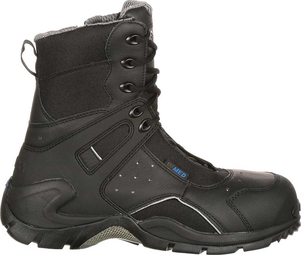 """Rocky 8"""" 1st Med Side Zip Carbon Fiber 911-113, Black, large, image 2"""