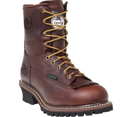 "Men's Georgia Boot G7113 8"" Logger, Bark, large, image 1"