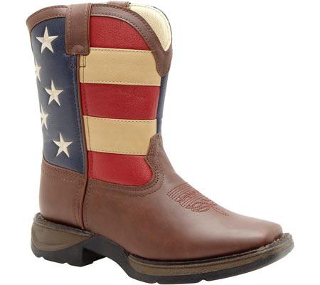 "Boys' Durango Boot BT245 8"" Lil' Durango, Brown/Union Flag, large, image 1"