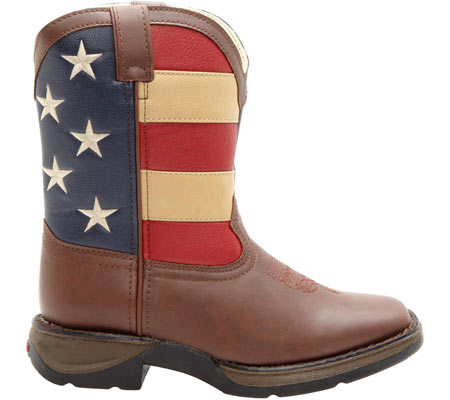 "Boys' Durango Boot BT245 8"" Lil' Durango, Brown/Union Flag, large, image 2"