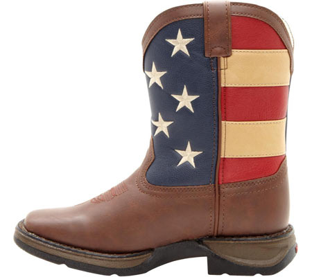 "Boys' Durango Boot BT245 8"" Lil' Durango, Brown/Union Flag, large, image 3"