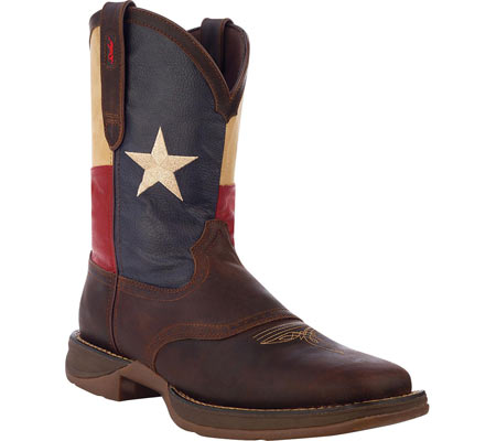 "Men's Durango Boot DB4446 11"" Patriotic, Dark Brown/Texas Flag, large, image 1"