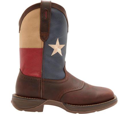 "Men's Durango Boot DB4446 11"" Patriotic, Dark Brown/Texas Flag, large, image 2"