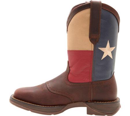 "Men's Durango Boot DB4446 11"" Patriotic, Dark Brown/Texas Flag, large, image 3"