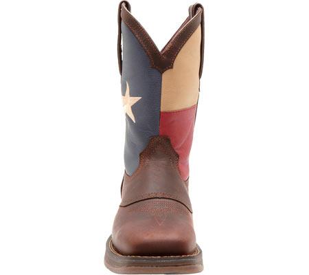 "Men's Durango Boot DB4446 11"" Patriotic, Dark Brown/Texas Flag, large, image 4"