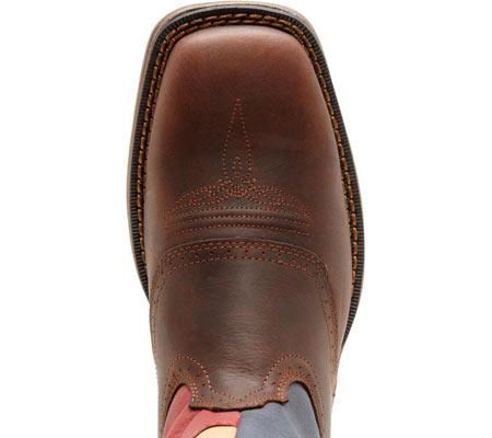 "Men's Durango Boot DB4446 11"" Patriotic, Dark Brown/Texas Flag, large, image 6"