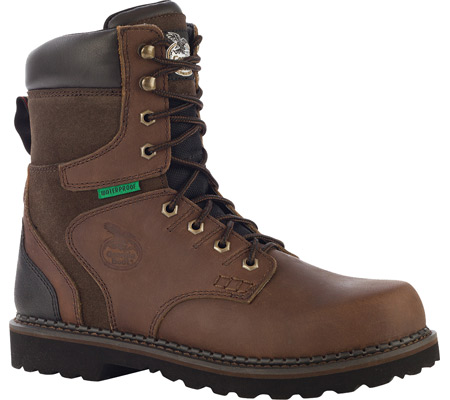 "Men's Georgia Boot G9134 8"" Brookville WP Work Boot, Dark Brown Leather, large, image 1"