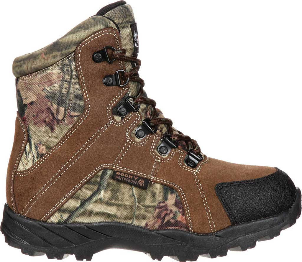 """Children's Rocky 7"""" Hunting Insulated WP Boot 3710, Brown/Mossy Oak Infinity Leather, large, image 2"""