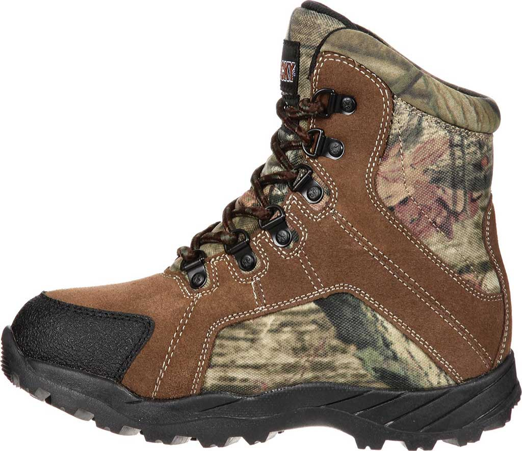 """Children's Rocky 7"""" Hunting Insulated WP Boot 3710, Brown/Mossy Oak Infinity Leather, large, image 3"""