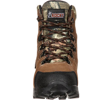 """Children's Rocky 7"""" Hunting Insulated WP Boot 3710, Brown/Mossy Oak Infinity Leather, large, image 4"""