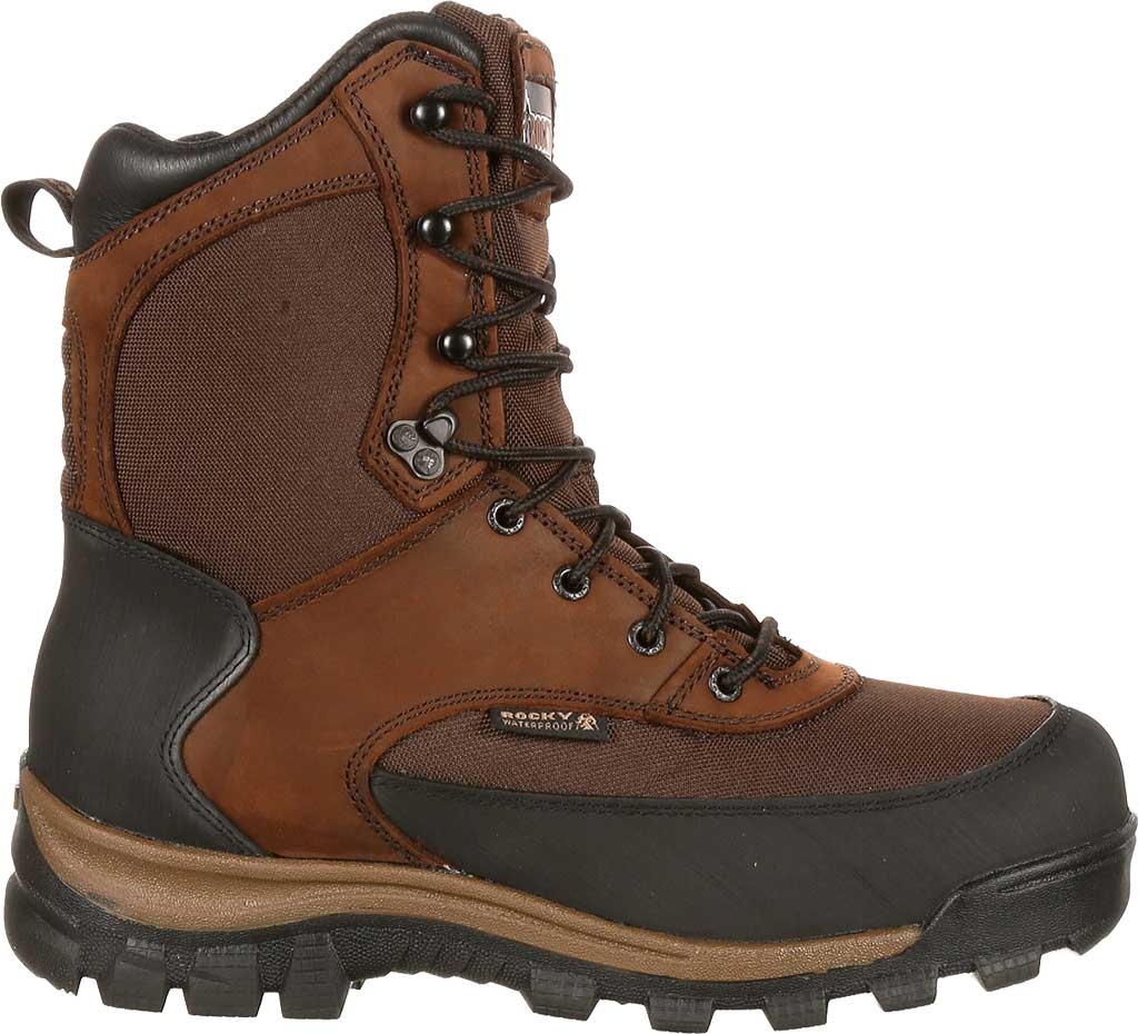 """Men's Rocky 8"""" Core Insulated Outdoor Boot WP 4753, Brown Full Grain Leather/Textile, large, image 2"""