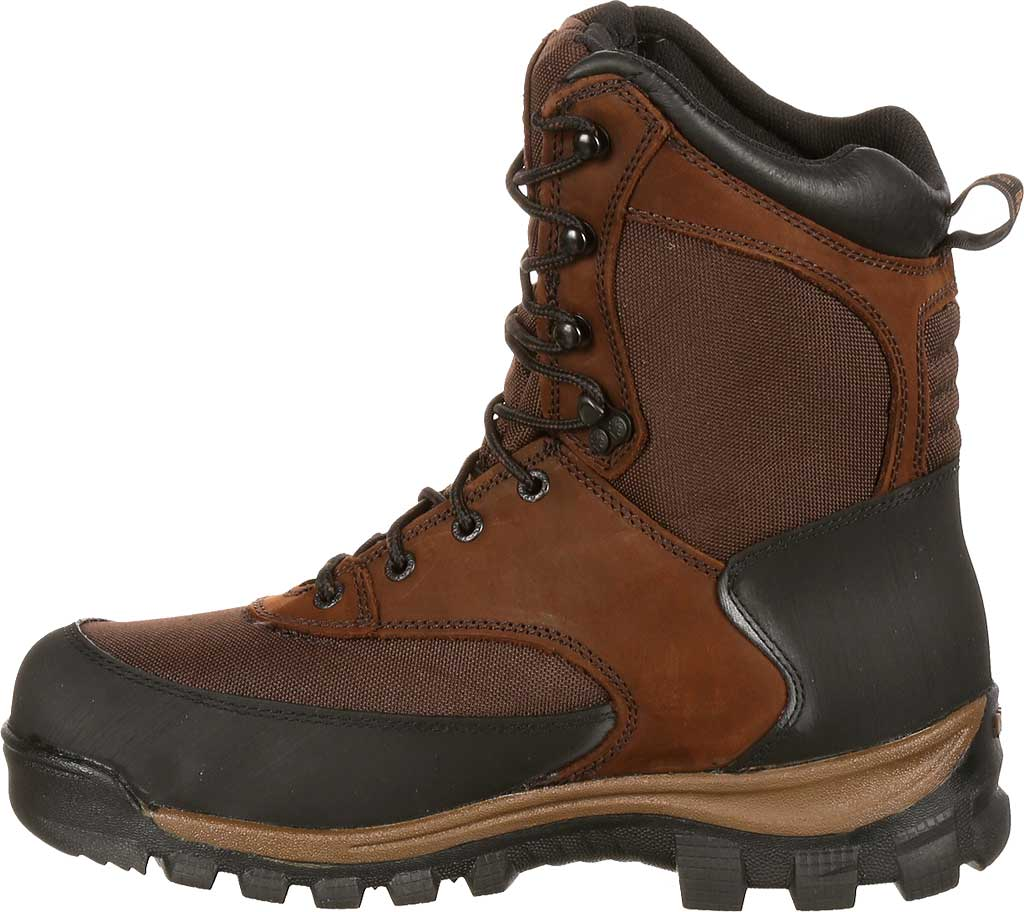 """Men's Rocky 8"""" Core Insulated Outdoor Boot WP 4753, Brown Full Grain Leather/Textile, large, image 3"""