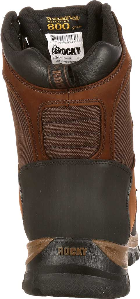 """Men's Rocky 8"""" Core Insulated Outdoor Boot WP 4753, Brown Full Grain Leather/Textile, large, image 5"""