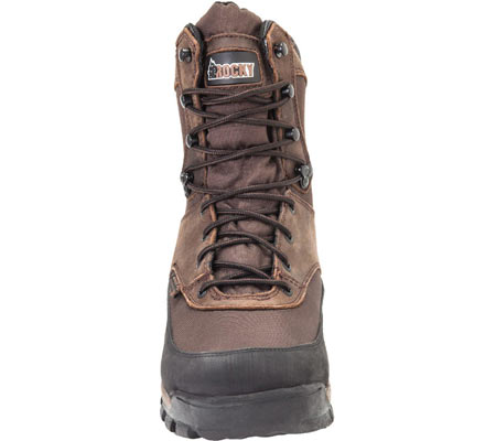 """Men's Rocky 8"""" Core Insulated Outdoor Boot WP 4753, Brown Full Grain Leather/Textile, large, image 4"""
