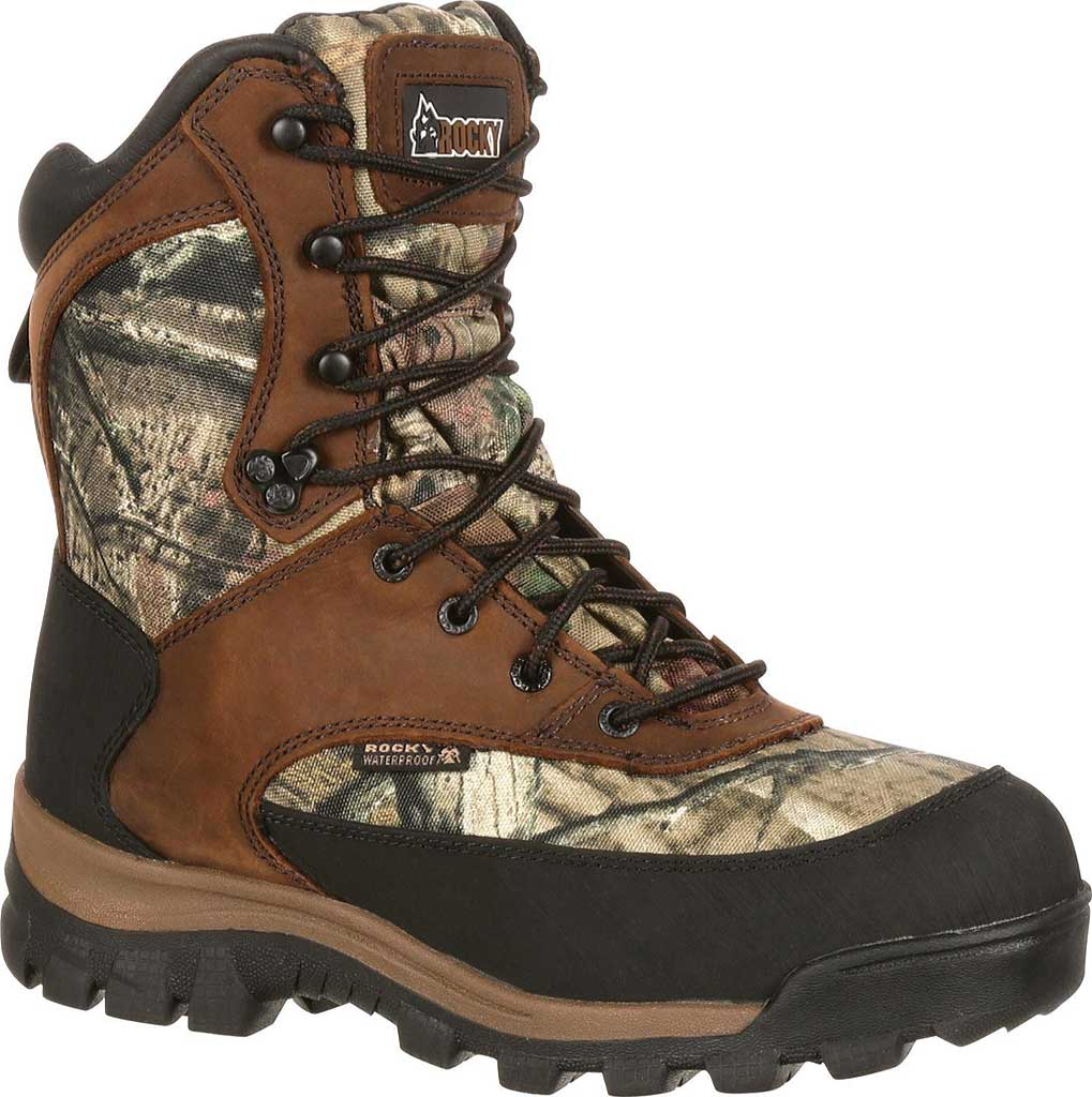 """Men's Rocky 8"""" Core Insulated Outdoor Boot WP 4755, Brown/M0 Infinity Full Grain Leather/Textile, large, image 1"""