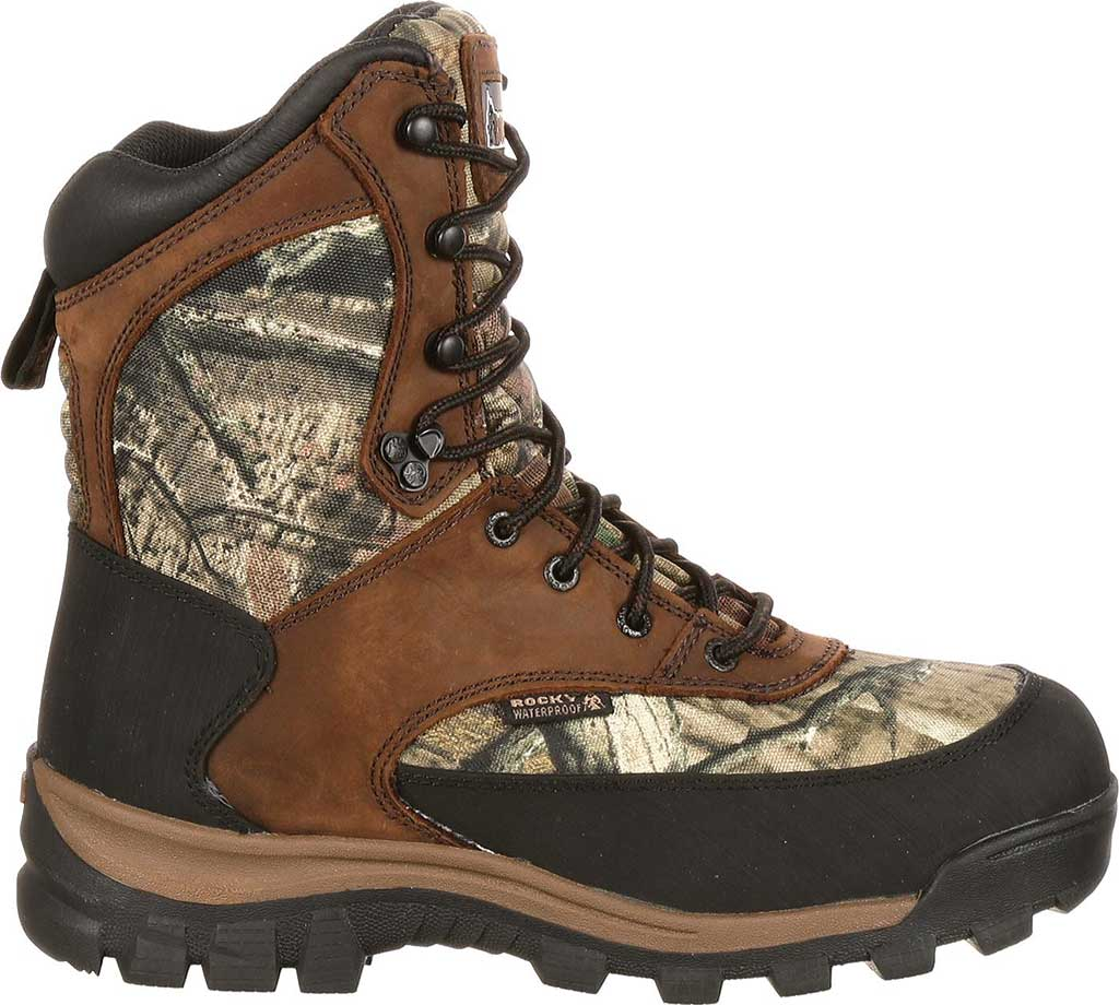 """Men's Rocky 8"""" Core Insulated Outdoor Boot WP 4755, Brown/M0 Infinity Full Grain Leather/Textile, large, image 2"""