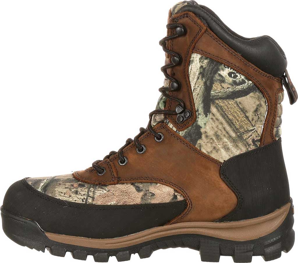 """Men's Rocky 8"""" Core Insulated Outdoor Boot WP 4755, Brown/M0 Infinity Full Grain Leather/Textile, large, image 3"""