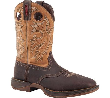 "Men's Durango Boot DB019 11"" Steel Toe WP Western Boot, Brown/Goldenrod, large, image 1"
