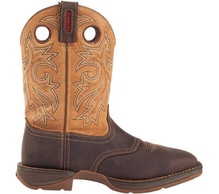 "Men's Durango Boot DB019 11"" Steel Toe WP Western Boot, Brown/Goldenrod, large, image 2"