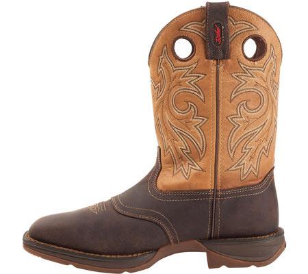 "Men's Durango Boot DB019 11"" Steel Toe WP Western Boot, Brown/Goldenrod, large, image 3"