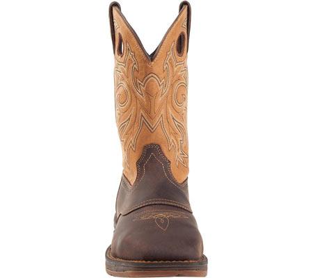 "Men's Durango Boot DB019 11"" Steel Toe WP Western Boot, Brown/Goldenrod, large, image 4"