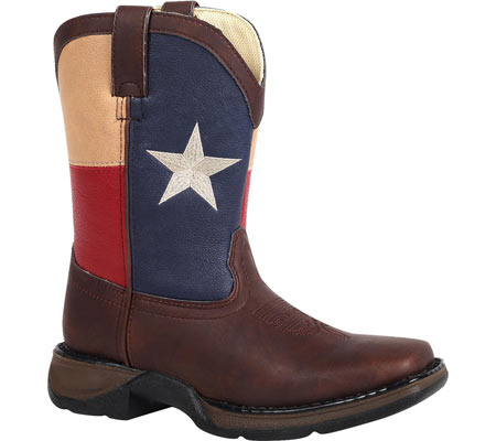 "Boys' Durango Boot BT246 8"" Western, Texas Flag, large, image 1"
