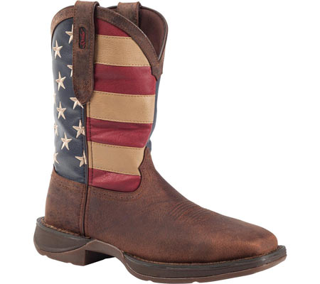 """Men's Durango Boot DB020 11"""" Flag Pull-On Boot, Brown/Union Flag, large, image 1"""