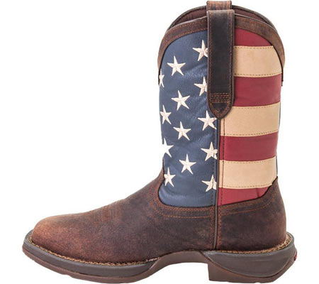 """Men's Durango Boot DB020 11"""" Flag Pull-On Boot, Brown/Union Flag, large, image 2"""