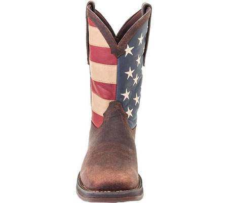 """Men's Durango Boot DB020 11"""" Flag Pull-On Boot, Brown/Union Flag, large, image 3"""