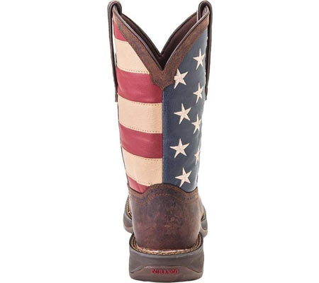 """Men's Durango Boot DB020 11"""" Flag Pull-On Boot, Brown/Union Flag, large, image 4"""