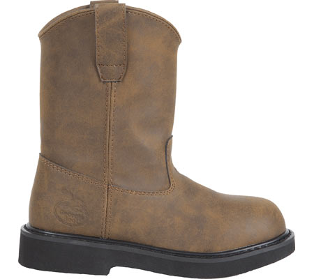 Children's Georgia Boot G100 Adolescent Pull-On Boot, Brown, large, image 1