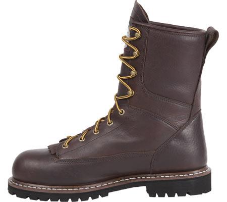 "Men's Georgia Boot G101 8"" Low Heel Logger, Chocolate Leather, large, image 3"