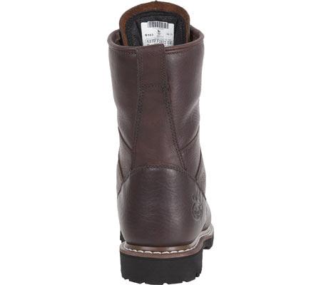 "Men's Georgia Boot G101 8"" Low Heel Logger, Chocolate Leather, large, image 4"