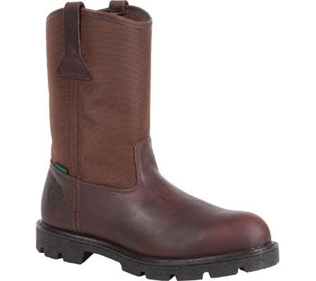 "Men's Georgia Boot G113 11"" Homeland Waterproof Wellington, Brown Full Grain Leather/Cordura, large, image 1"