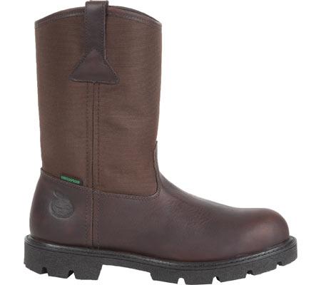 "Men's Georgia Boot G113 11"" Homeland Waterproof Wellington, Brown Full Grain Leather/Cordura, large, image 2"