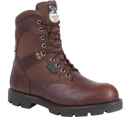 "Men's Georgia Boot G107 8"" Homeland Steel Toe WP Work Boot, Brown Full Grain Leather/Cordura, large, image 1"