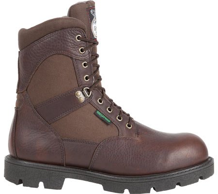 "Men's Georgia Boot G107 8"" Homeland Steel Toe WP Work Boot, Brown Full Grain Leather/Cordura, large, image 2"