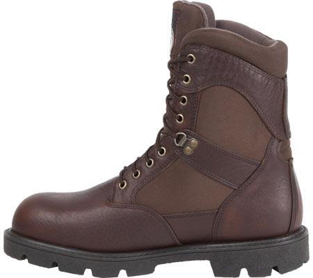 "Men's Georgia Boot G107 8"" Homeland Steel Toe WP Work Boot, Brown Full Grain Leather/Cordura, large, image 3"