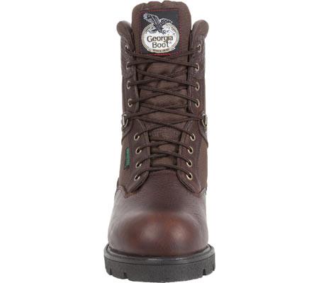 "Men's Georgia Boot G107 8"" Homeland Steel Toe WP Work Boot, Brown Full Grain Leather/Cordura, large, image 4"